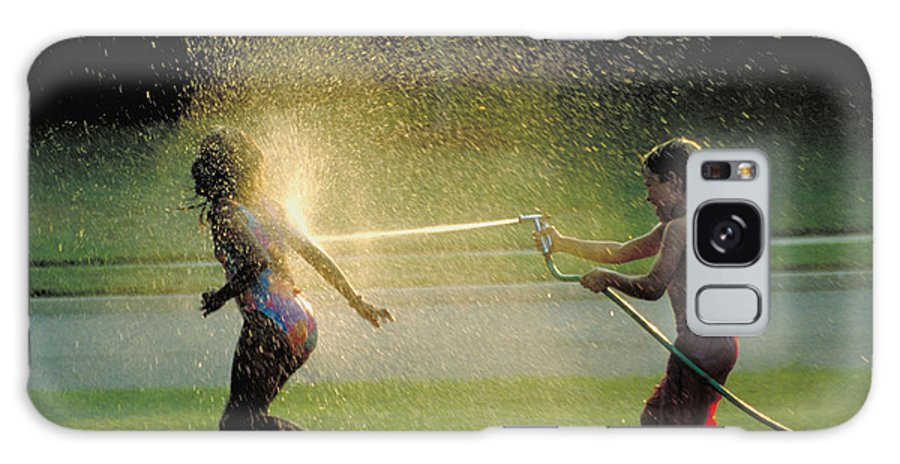 Hose Galaxy S8 Case featuring the photograph Summer Fun by Carl Purcell