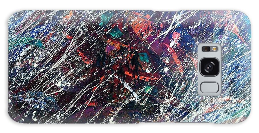 Stephane Trahan Galaxy S8 Case featuring the painting Summer Night Party by Stephane Trahan