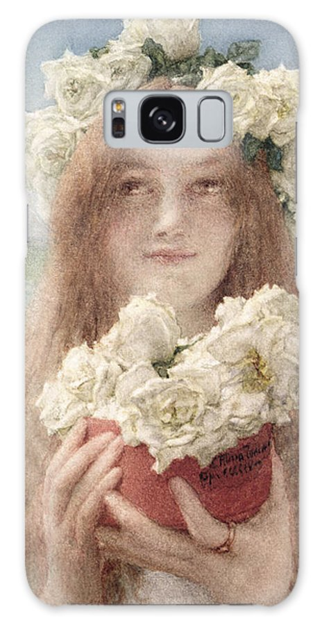 Soft Galaxy S8 Case featuring the painting Summer Offering by Sir Lawrence Alma-Tadema