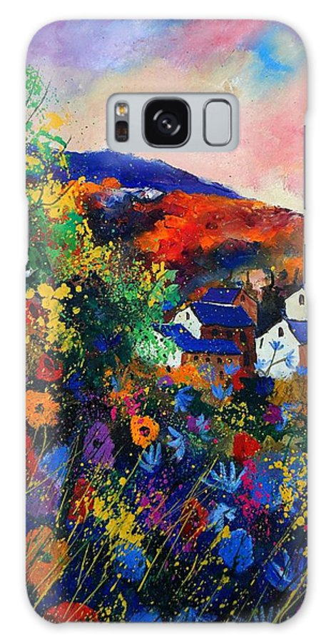 Landscape Galaxy S8 Case featuring the painting Summer by Pol Ledent