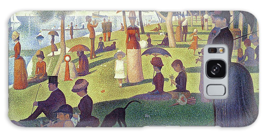 Sunday Afternoon On The Island Of La Grande Jatte Galaxy Case featuring the painting Sunday Afternoon on the Island of La Grande Jatte by Georges Pierre Seurat