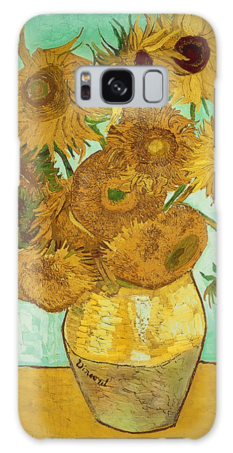 Sunflowers Galaxy Case featuring the painting Sunflowers by Van Gogh by Vincent Van Gogh