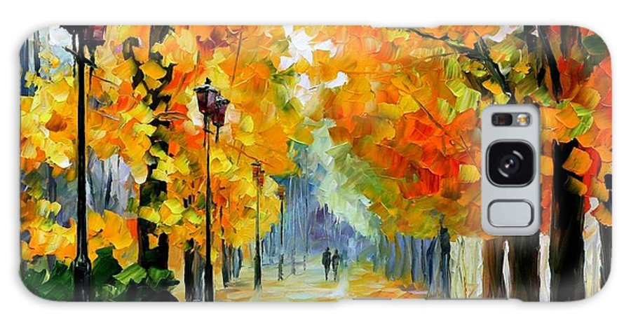 Afremov Galaxy S8 Case featuring the painting Sunny October by Leonid Afremov