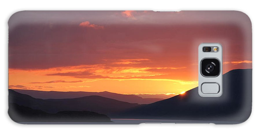 Iceland Galaxy S8 Case featuring the photograph Sunrise Between Two Mountains by Andres Zoran Ivanovic