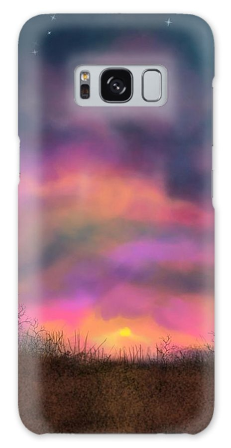 Sunsets Galaxy S8 Case featuring the digital art Sunset by Kathleen Hromada