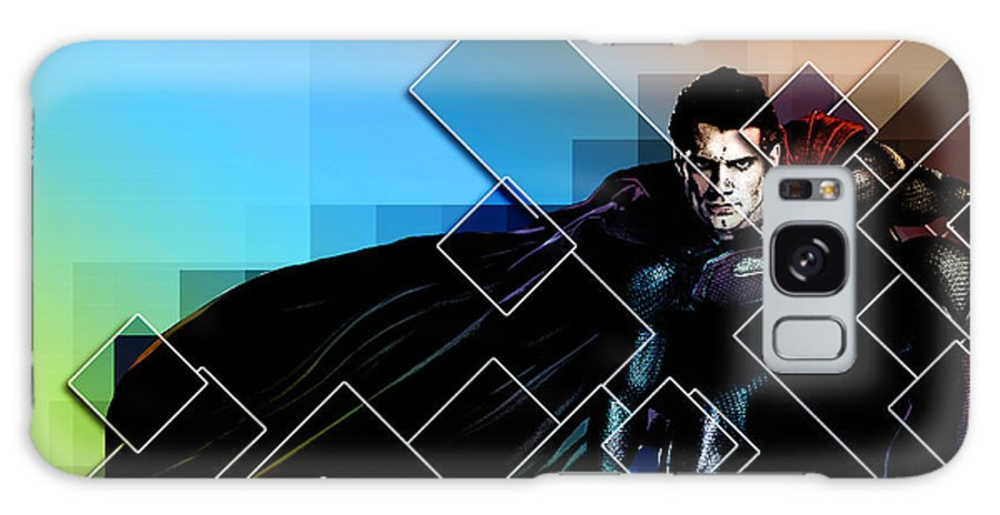 Batman Galaxy S8 Case featuring the digital art Superhero by Anna J Davis