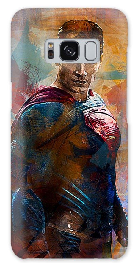 Batman Galaxy S8 Case featuring the digital art Superhero.superman. by Anna J Davis