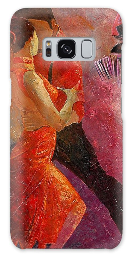 Tango Galaxy Case featuring the painting Tango by Pol Ledent