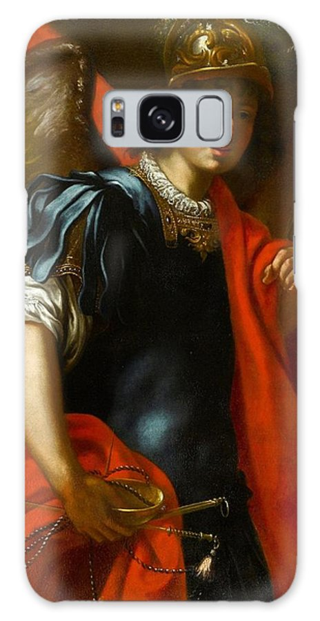 Jacopo Vignali (pratovecchio 1592 - Florence 1664) Galaxy S8 Case featuring the painting The Archangel Michael by Jacopo Vignali