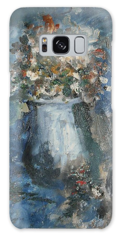 Still Life Galaxy S8 Case featuring the painting The Blue Vase by Edward Wolverton