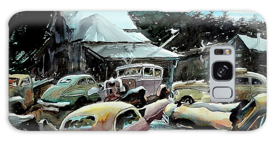 Cars Galaxy S8 Case featuring the painting The Last Stand by Ron Morrison