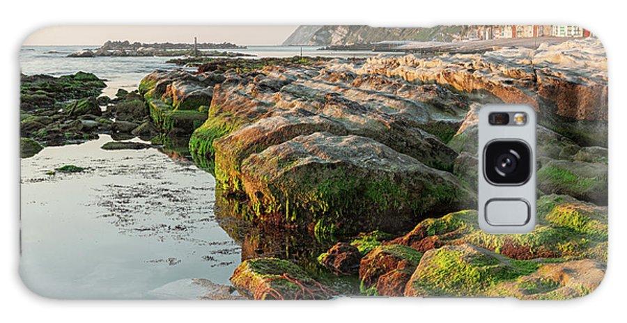 Passetto Galaxy S8 Case featuring the photograph The Passetto Rocks At Sunrise, Ancona, Italy by Luigi Morbidelli