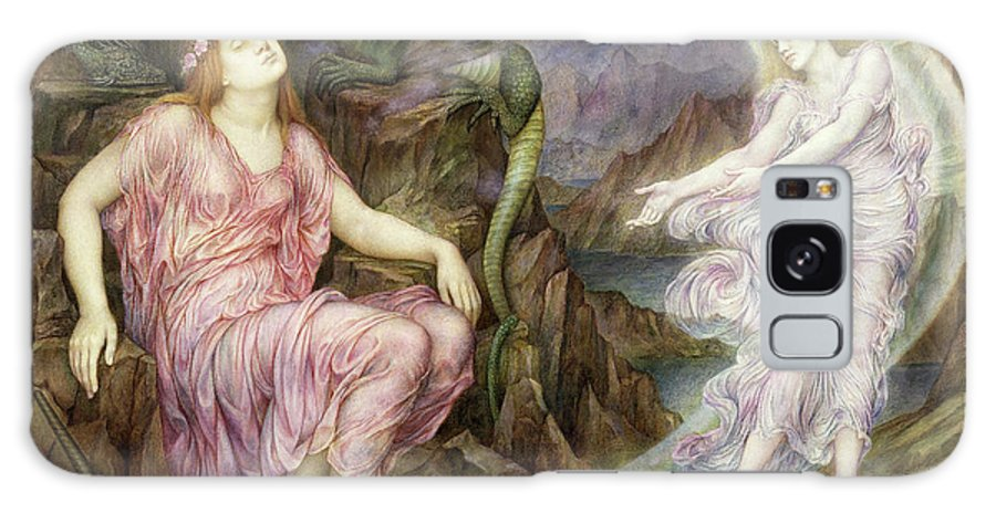 Allegorical Painting Galaxy Case featuring the painting The Passing Of The Soul At Death 1 by Evelyn De Morgan