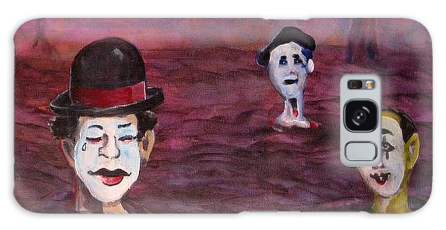 Mimes Galaxy S8 Case featuring the painting The Silence Of The Mimefield by Dennis Tawes