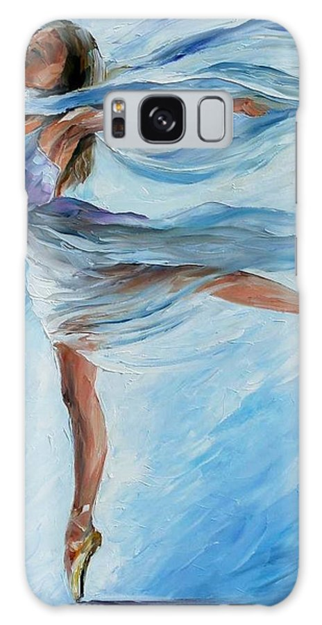 Afremov Galaxy S8 Case featuring the painting The Sky Dance by Leonid Afremov
