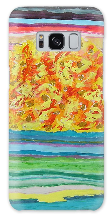 Hot Galaxy Case featuring the painting The Sun Drinks The Ocean And Eats The Sky by James Campbell