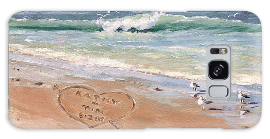Seascape Galaxy Case featuring the painting The Wedding Gift by Laura Lee Zanghetti