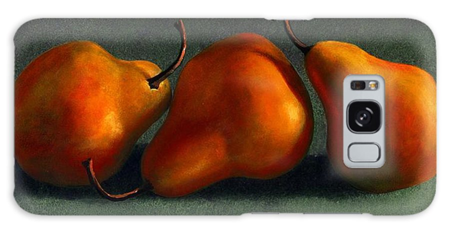 Still Life Galaxy S8 Case featuring the painting Three Golden Pears by Frank Wilson