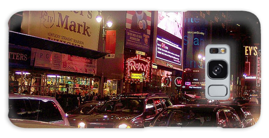 New York Galaxy Case featuring the photograph Times Square Night by Debbi Granruth