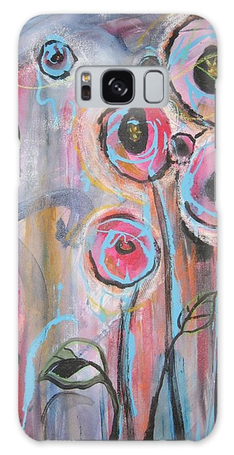 Aabstract Paintings Galaxy S8 Case featuring the painting Too Many Temptations by Seon-Jeong Kim