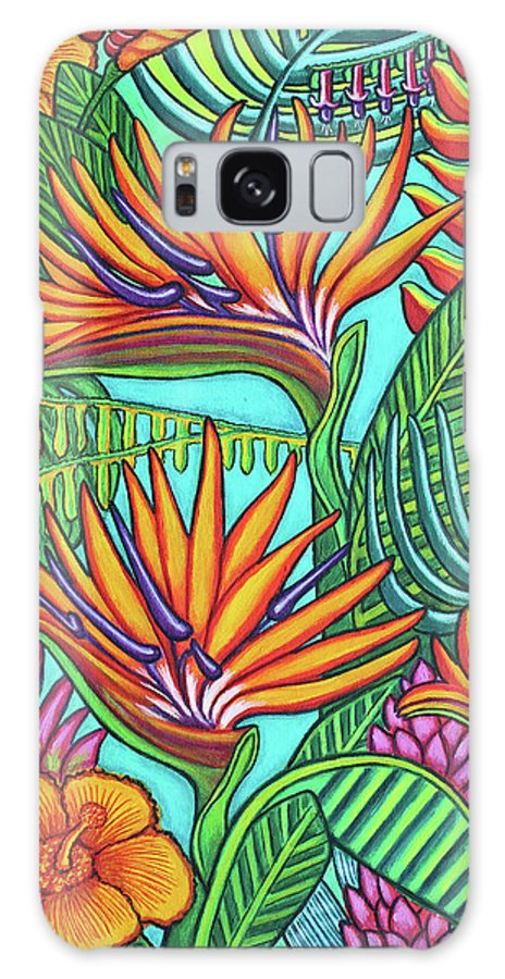 Tropical Galaxy Case featuring the painting Tropical Gems by Lisa Lorenz
