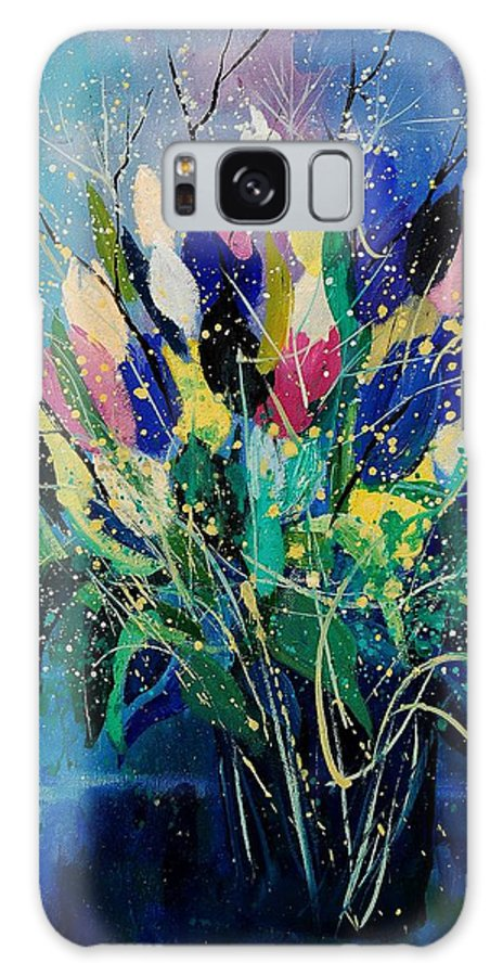 Flowers Galaxy S8 Case featuring the painting Tulips 45 by Pol Ledent
