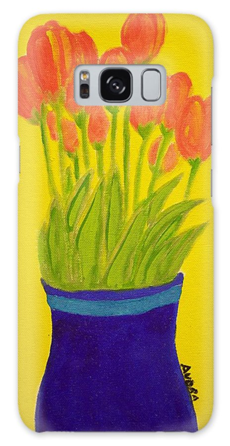 Portrait Galaxy S8 Case featuring the painting Tulips by Audra Smith