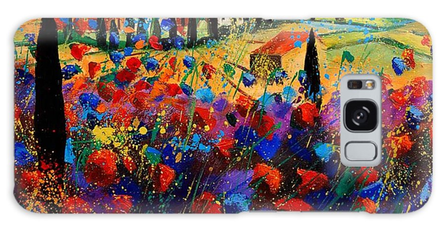 Flowers Galaxy Case featuring the painting Tuscany Poppies by Pol Ledent