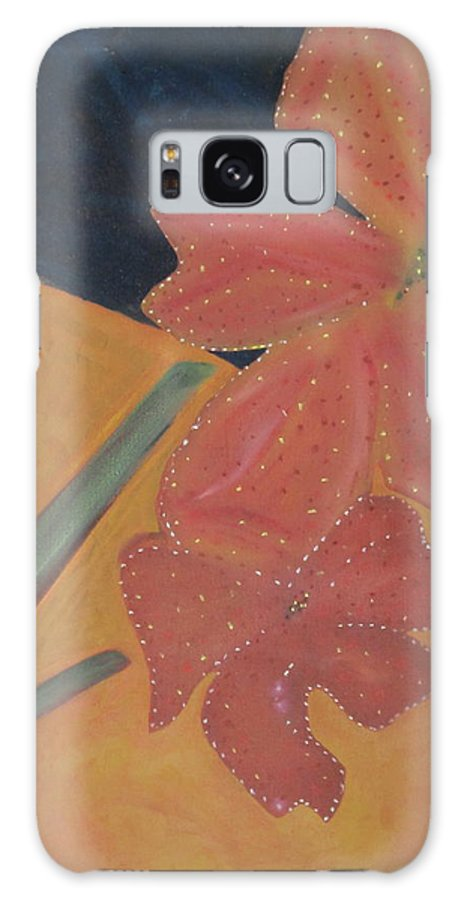 Flowers Galaxy S8 Case featuring the painting Two Flowers by Patricia Cleasby