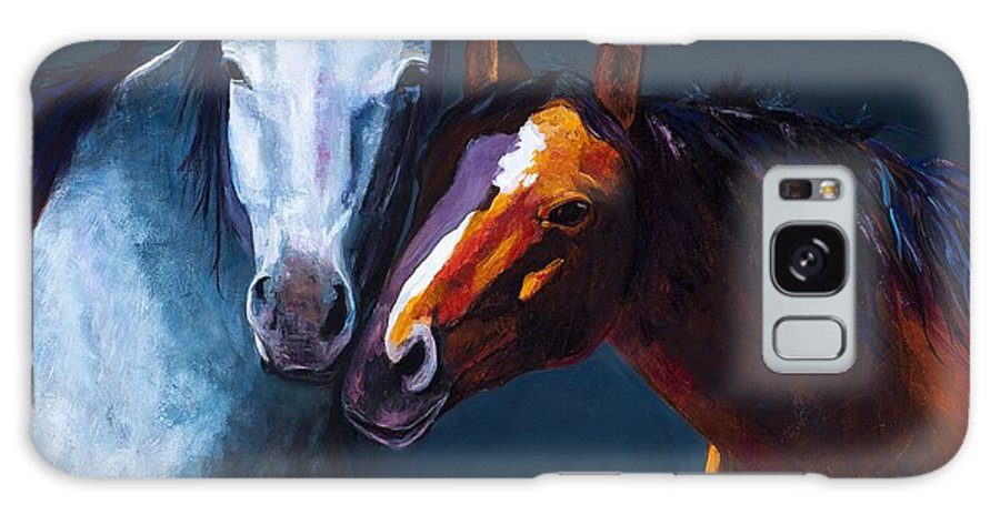Horses Galaxy S8 Case featuring the painting Unbridled Love by Frances Marino