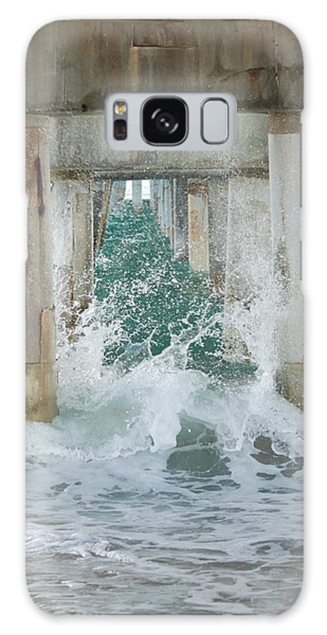 Ocean Galaxy S8 Case featuring the photograph Under The Boardwalk by Rob Hans