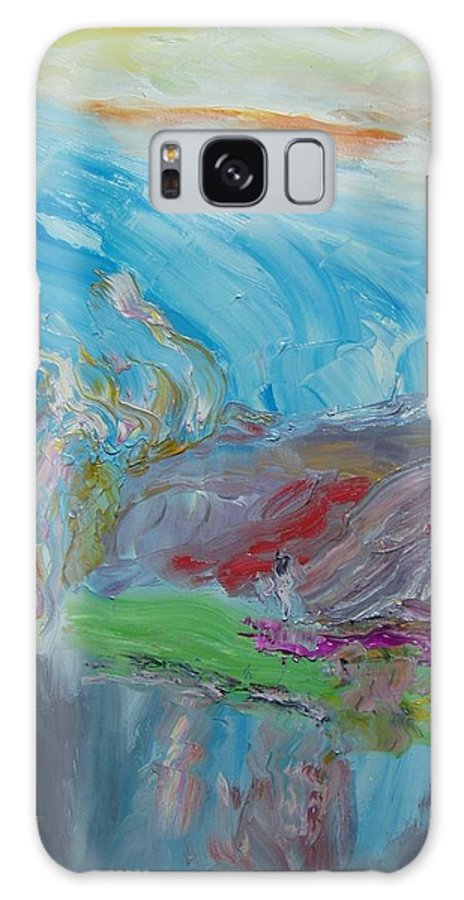 Sky Galaxy S8 Case featuring the painting Untitled by Bennu Bennu