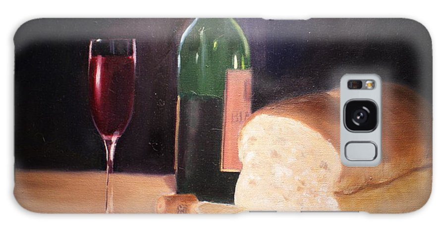 Wine Galaxy S8 Case featuring the painting Untitled by Toni Berry