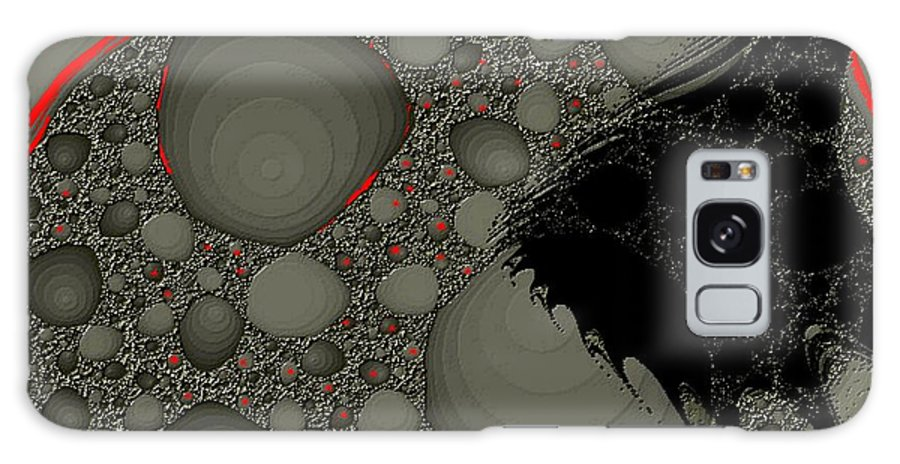 Fractals Embers Fire Cells Stones Rocks Galaxy Case featuring the digital art Untitled by Veronica Jackson