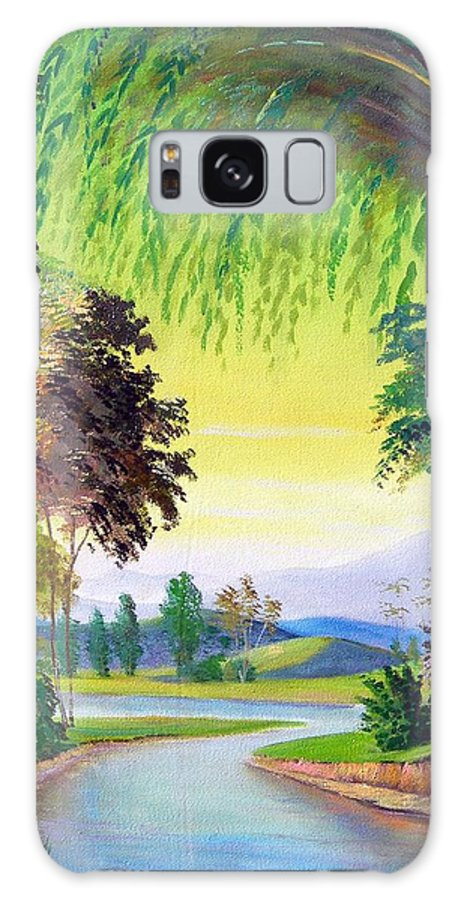 Landscape Galaxy Case featuring the painting Verde Que Te Quero Verde by Leomariano artist BRASIL