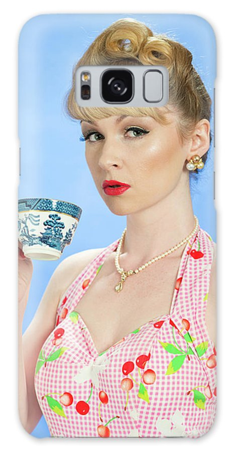 Pin Up Galaxy S8 Case featuring the photograph Vintage Pin Up by Amanda Elwell