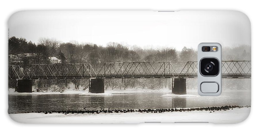 Washington's Crossing Galaxy S8 Case featuring the photograph Washingtons Crossing Bridge by Bill Cannon