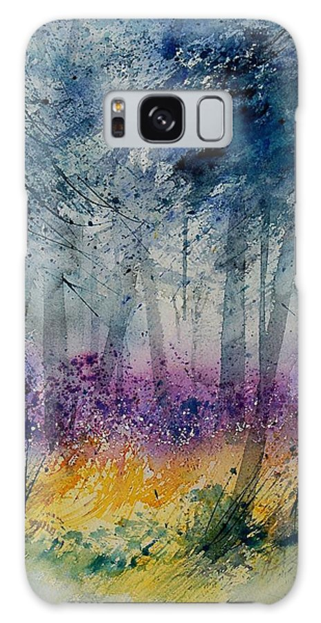 Flowers Galaxy Case featuring the painting Watercolor 130608 by Pol Ledent