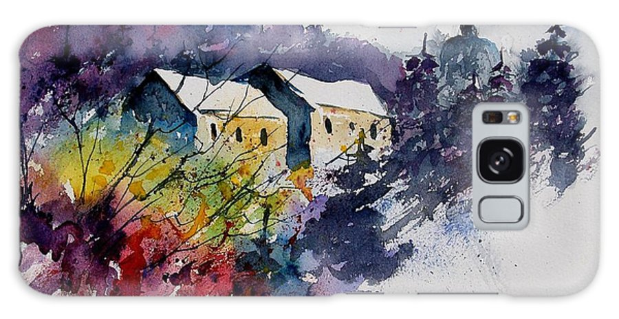 Winter Galaxy Case featuring the painting Watercolor 231207 by Pol Ledent