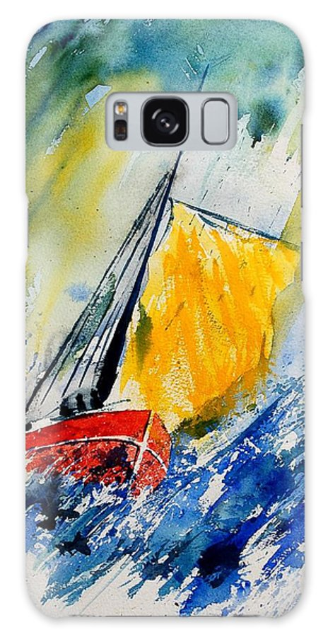 Sea Galaxy S8 Case featuring the painting Watercolor 280308 by Pol Ledent