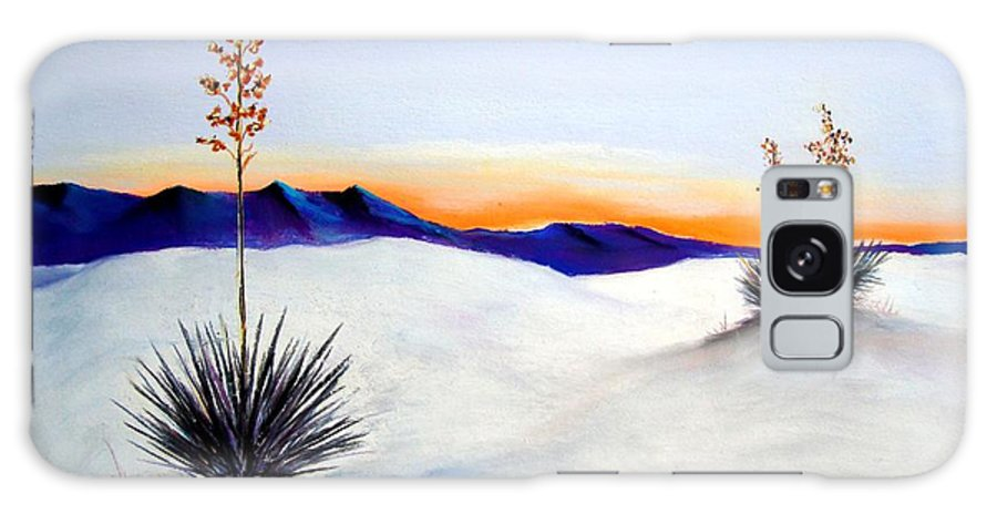 White Sands Galaxy S8 Case featuring the painting White Sands by Melinda Etzold