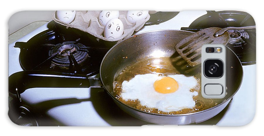 Eggs Galaxy Case featuring the photograph Who Is Next by Larry Keahey