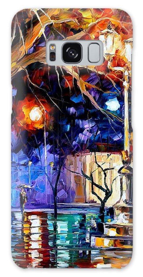 Afremov Galaxy S8 Case featuring the painting Winter Rain by Leonid Afremov