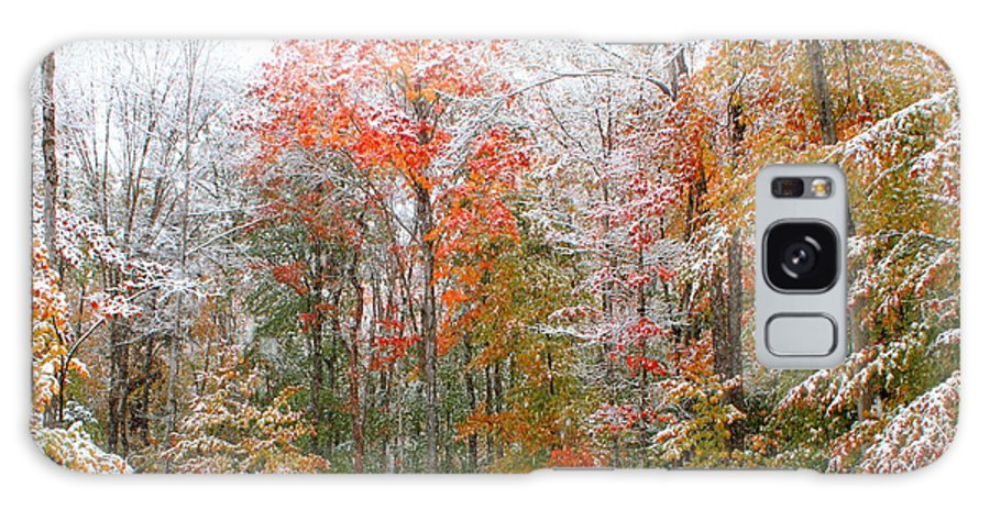 Snow Galaxy S8 Case featuring the photograph Winterfall by Jane Merrit