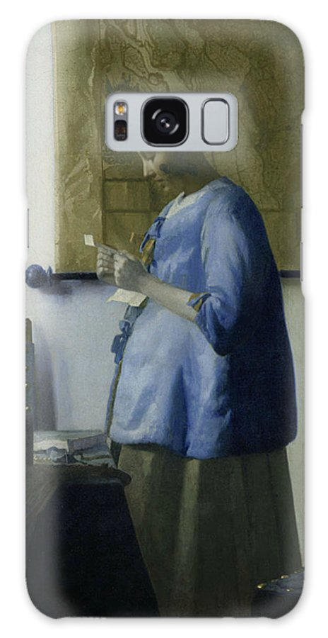 Jan Vermeer Galaxy S8 Case featuring the painting Woman Reading A Letter by Jan Vermeer