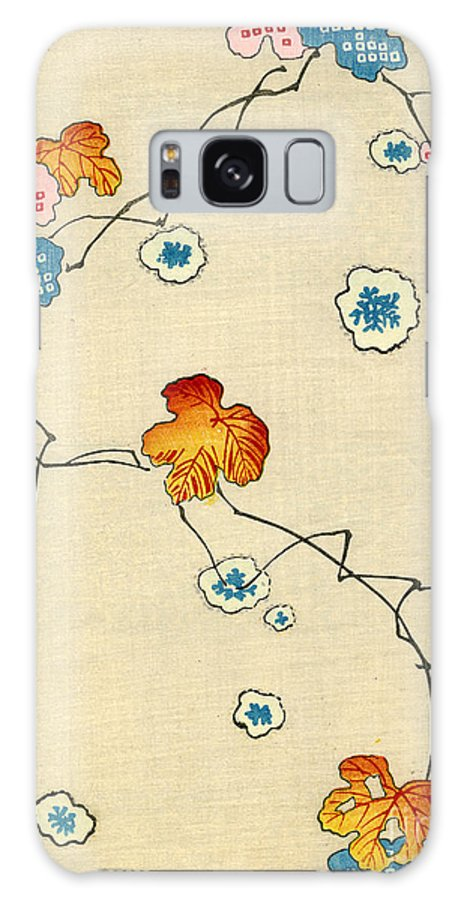 Vintage; Illustration; Graphic Design; Pattern; Japanese; 1880; Woodblock Print; Nobody; Meiji; Kimono; Textile Design; Pattern Book; Fall; Leaves; Tree; Branch; Autumn; Snowflake Galaxy S8 Case featuring the painting Woodblock Print Of Fall Leaves by Japanese School