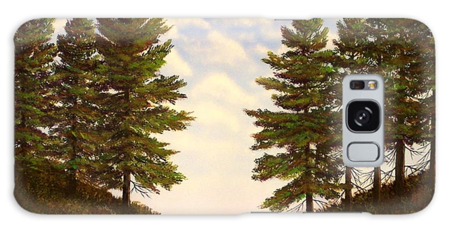 Wooded Path Galaxy Case featuring the painting Wooded Path by Frank Wilson