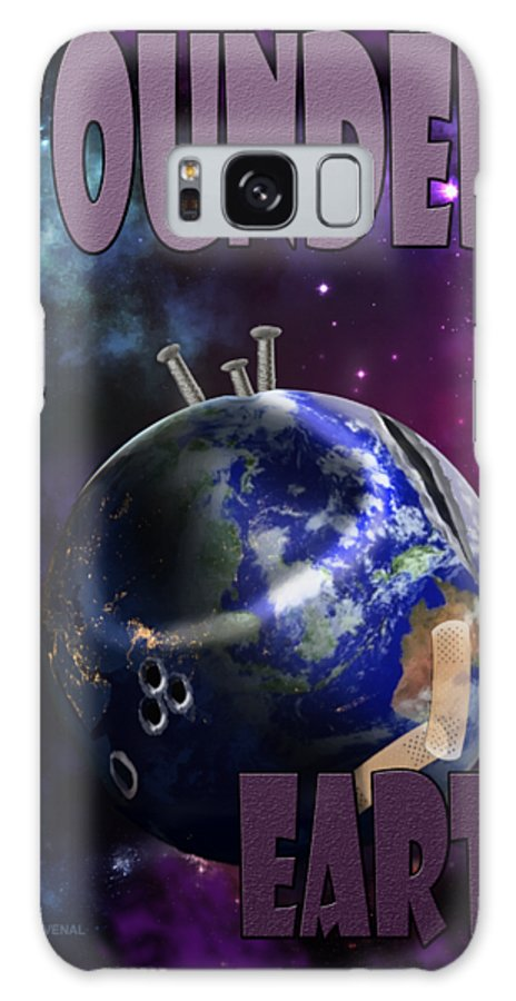 Canvas Prints Galaxy S8 Case featuring the digital art Wounded Earth by Joseph Juvenal