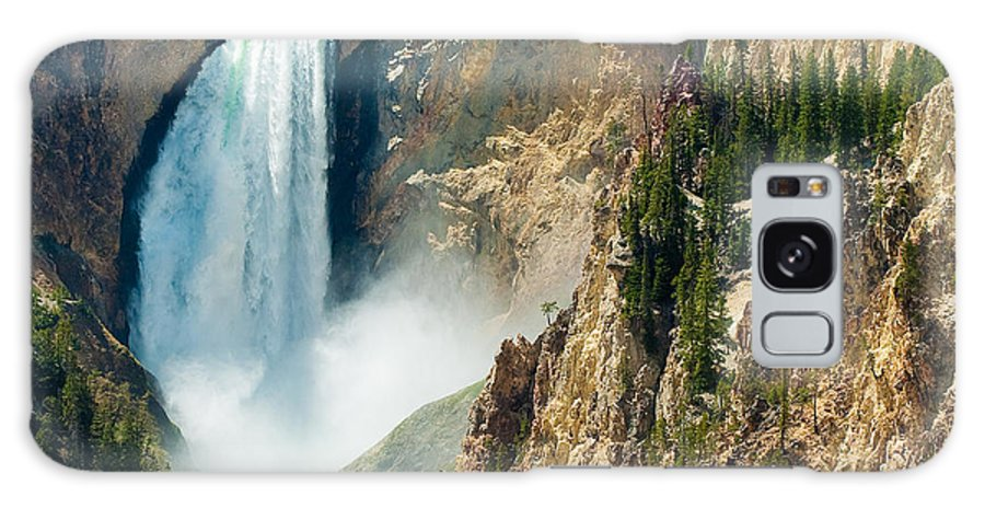 Yellowstone Galaxy S8 Case featuring the photograph Yellowstone Waterfalls by Sebastian Musial
