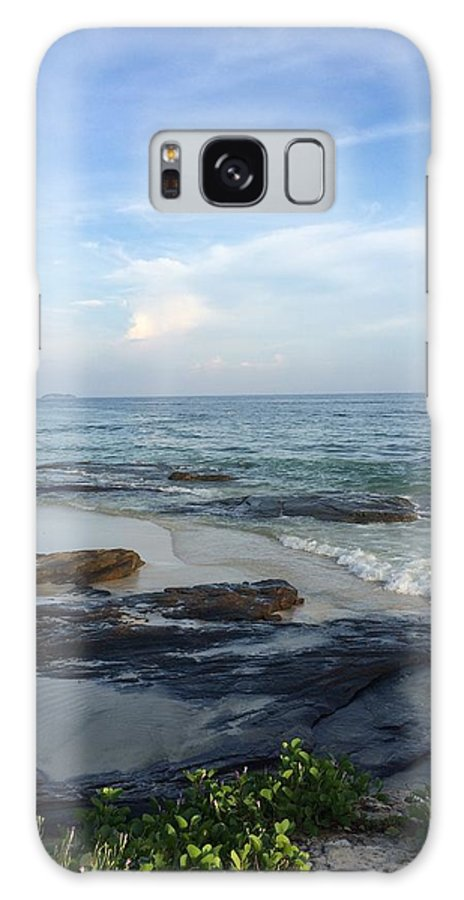 Beach Beauty In Nature Calm Cloud Cloud - Sky Coastal Feature Coastline Horizon Over Water Majestic Nature Non-urban Scene Outdoors Rock Formation Scenics Sea Seascape Shore Sky Tourism Tranquil Scene Tranquility Travel Destinations Vacations Water Wave � In Rayong Galaxy S8 Case featuring the photograph Photographs by Suntaree Nujai